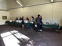 Glen Coe Marathon. Laid back registration hall