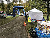 Loch Rannoch Marathon. The finish line prior to the race starting
