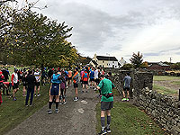 Loch Rannoch Marathon. The small amount of runners at the start line