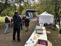Loch Rannoch Marathon. Runner coming up to the finish line