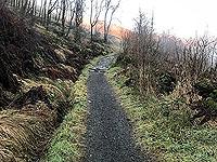 Ben Ledi. Good quality path marks start of path.