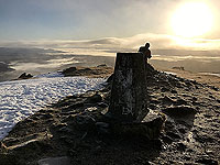 Ben Ledi. Trig point at the summit
