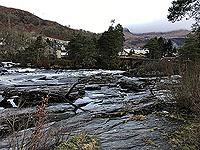 Killin - Lochan Breaclaich. The falls are a big tourist attraction