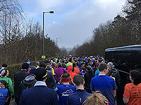 Balloch to Clydebank half. Another look at the start line