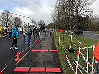 Balloch to Clydebank half. The wee finish line
