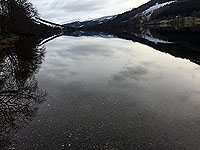 Lochs Voil and Doine. Reflections