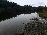 Lochs Voil and Doine. Reflections on the loch