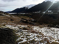 Lochs Voil and Doine. Looking back at Loch Voil