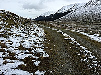Lochs Voil and Doine. Isolated road