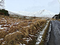 Lochs Voil and Doine. The country road
