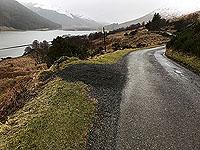 Lochs Voil and Doine. Dull day at Loch Doine