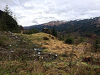 Aberfoyle past the tower. Looking towards the hills