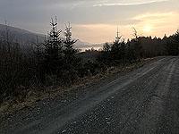 Kinlochard 5 lochs. Winter sunrise over Loch Ard