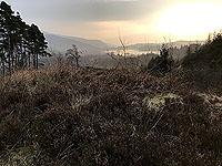 Kinlochard 5 lochs. Loch Ard in the distance
