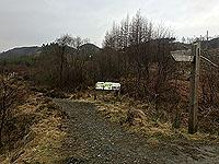 Kinlochard 5 lochs. Entrance to the path