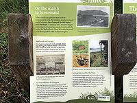 Kinlochard 5 lochs. Information sign