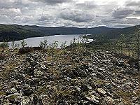 Kinlochard 5 lochs. Looking down on the loch