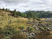 Kinlochard 5 lochs. View of the hills