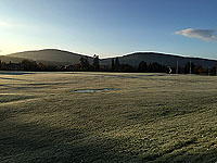 Aboyne games hill run. Craigendinnie from across the green - not on games day