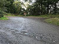 Past The Stank. The car park