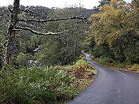 Glen Strathfarrar. Waterfall on the left