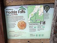 Plodda falls. Information sign 1