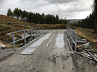 Coire an Loch loop. Bridge relacement for the ford