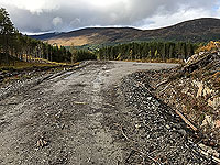 Coire an Loch loop. The last of the new road