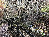 Craig Hill loop. Bridge over the falls