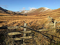 To Carn Labhruinn. Looking towards the hills