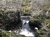 To Carn Labhruinn. View of the falls