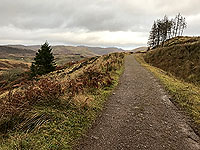 To Carn Labhruinn. The countryside opens up