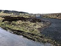 Sheriffmuir loop. Path leaving the road