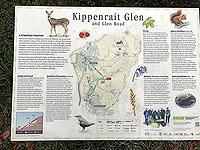 Sheriffmuir loop. Glen Road information sign