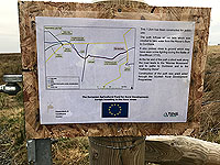 Sheriffmuir loop. Information sign