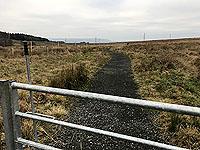 Sheriffmuir loop. The good quality path ahead
