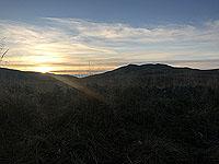 Sheriffmuir loop. Dumyat in the morning sun