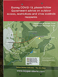 Sheriffmuir loop. Information about the other paths. 2020 in COVID season