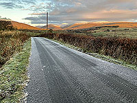 Small 3 Lochs loop. Very quiet road - looking into the glen