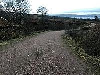 Run Ben Bouie loop.  : Start of the climb on the dirt road