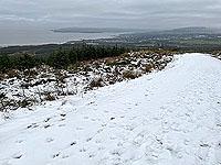 Run Ben Bouie loop.  : Helensburgh from the snow line