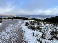 Run Ben Bouie loop.  : Views of Loch Lomond on a cold day