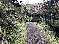 The stairs at the top of the hill