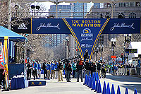 Finish line for the Boston marathon