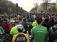 Start line of the Paris marathon