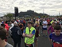 Start line at the Stirling marathon