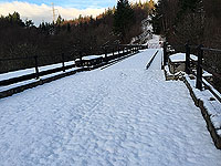 Duchray bridge in the snow