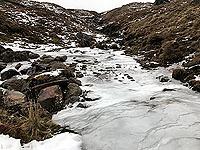 Frozen ford on the Glen Kendrum, Glen Ogle loop