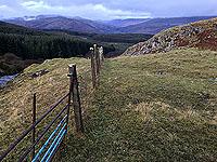 Looking up the Glen from Lochan Breaclaich