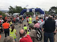 Finish line at the Skye half marathon